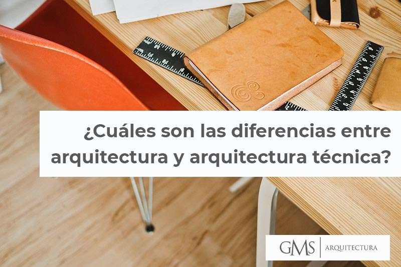 ¿Cuáles son las diferencias entre arquitectura y arquitectura técnica?